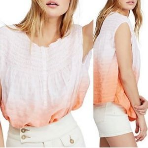 NWT We The Free Pink Orange Oversized Ombre Top